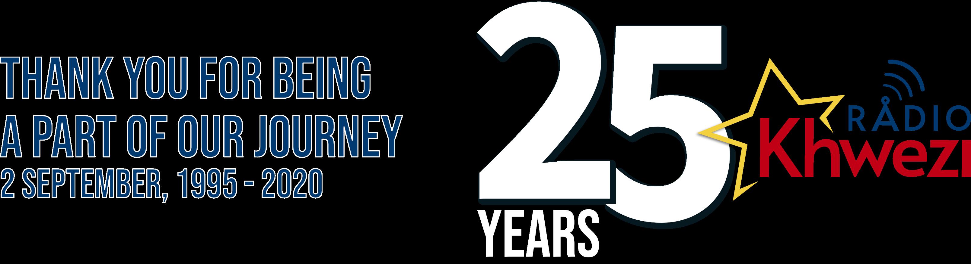 Radio Khwezi Logo 2020_25 years